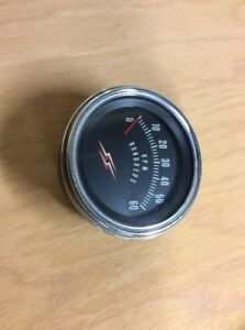 Vintage Ss Tachometer 6000 Rpm Gasser Lead Sled Altered Scta Rat Hot Rod