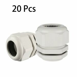 Uxcell 20 Pcs M40 Waterproof Nylon Cable Gland Joint Adjustable Connector For