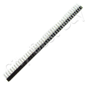 100 Female Black 40 Round Pins Pcb Single Row 2 54mm Pitch Spacing Header Strip