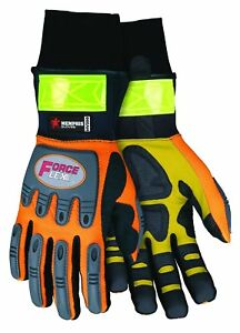 Mcr Safety Hv200xl Forceflex High Visibility Clarino Synthetic Leather Gloves