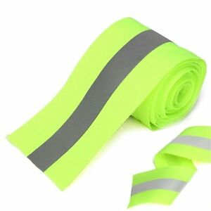 2 X 25 Yds Lime Silver Sew On High Visibility Hi Vis Retro Reflective Tape