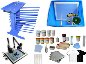 Screen Printing Materials Storage Pack Squeegee Frame Ink Bottle Place Table