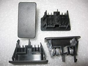 Lot Of 4 Carling Vh2 01 Rectangular Rocker Switch Blank Snap In Hole Plug Cover