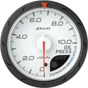 Defi Advance Gauge Cr 60 Oil Press White
