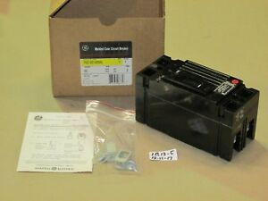 new In Box Ge 100a 2 Pole Molded Case Circuit Breaker Teb122100wl 240ac 250dc