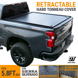 Aluminum Retractable Roll Up Hard Tonneau Cover 2014 2018 Silverado Sierra 5 8ft