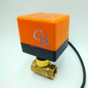 Dc 12v G2 Dn50 Brass 2 Way Motorized Ball Valve Electrical Valve