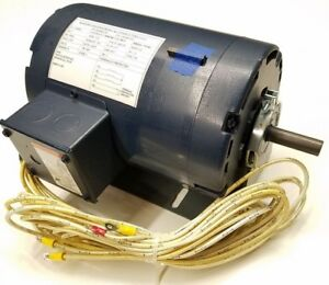2 Hp Electric Motor 3 Phase Ac 1725 Rpm 208 230v 56h Frame Continuous Duty Usa