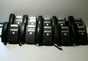 Lot Of 10 Polycom Ip 335 Business Phones W Handsets Stands 2201 12375 001