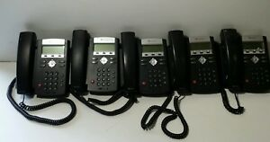 Lot Of 5 Polycom Ip 335 Business Phones W Handsets Stands 2201 12375 001