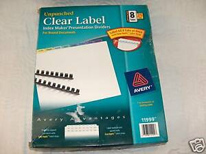 Avery 11999 Unpunched Contemporary Colored Tabs Free Sh