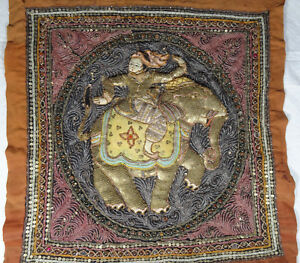 Wonderful Antique Eastern Persian Metal Silk Embroidery Intricate Tapestry 18c