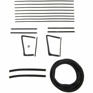 1954 1955 1956 Buick Oldsmobile 2dr Convertible Glass Weatherstrip Seal Kit