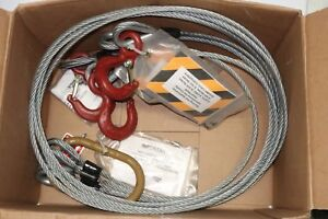 New The Crosby Group 4 Leg 1 4 Bridle Sling Cable Rigging Hoist 3 4 Ton Hooks
