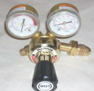 Harris 801 15 510 Acetylene Or Lp Cutting Welding Regulator Set Cga 510