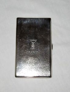 Vintage R Blackinton Co Hammered Sterling Silver Cigarette Card Case