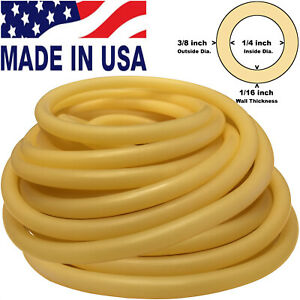 40 Feet Continuous 3 8in 10mm od 1 4in 6mm id Latex Rubber Tubing Amber 804a