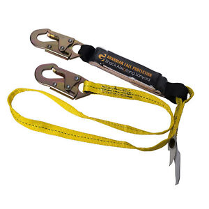 6ft Shock Absorbing Safety Harness Fall Arrest Protect Belt Lanyard W Snap Hook