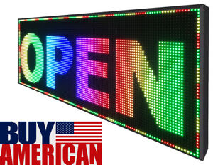 19 X 76 Full Color Pc Programmable Led Sign Outdoor Indoor Window Bright Image