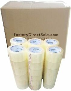 36 Rolls Full Box 2 60 Yards 180ft 2 7mil Sealing Clear Packing Shipping Tape