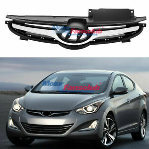 Chrome Front Bumper Hood Grill Grille For Hyundai Elantra 2011 2013 863503x200