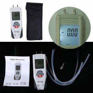 Lcd Digital Manometer Differential Air Pressure Meter Gauge battery No Included