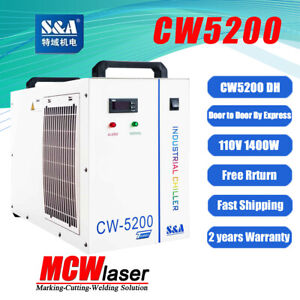 Industrial Water Chiller Cool 80kw Spindle Cnc Tube Cw 5200dh 110v 60hz