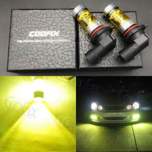 2x 9006 Hb4 3000k Amber Yellow 100w High Power Cree Led Fog Lights Driving Bulbs