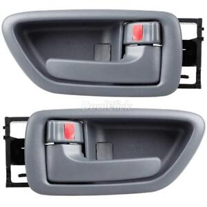 2pc Gray Interior Front Left Right Lh Rh Door Handle For 2004 2006 Toyota Tundra