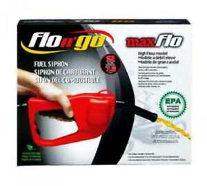 Flo N Go Maxflo Fuel Siphon Epa Hand Pump Kit Gas Transfer Hose For 5 Gal Tank