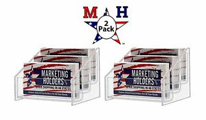 Marketing Holders 3 Tier Business Card Holder Display Stand Clear 2