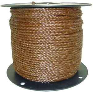 Field Guardian 1 4 In Brown Polyrope Heavy Duty Poultry Farm Wire Fence Fencing