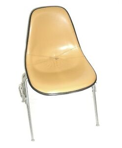 Herman Miller Leather Bucket Chair Stackable W chair to chair Interlock Legs 3