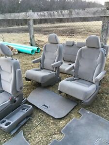 Honda Odyssey Seats Air Bag Set W Floor Mats Tray Headrests Gray Cloth Good