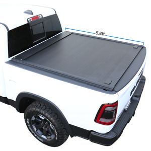 Fit 2009 2019 Ram 1500 5 7ft Retractable Tonneau Cover Hard Waterproof Aluminum