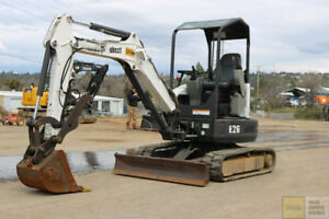 2012 Bobcat E26 Mini Excavator Hydraulic Thumb Blade 1800hrs Tier 4