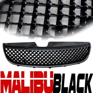 Blk Bentley Honeycomb Mesh Upper Grill Grille Kit Replacement 97 99 Chevy Malibu
