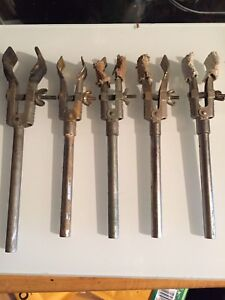 Lot Of 5 Vintage Fisher Castaloy Lab Clamps nice