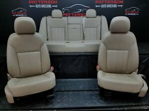 2011 Buick Regal Front Rear Leather Bucket Seats Light Neutral 01b