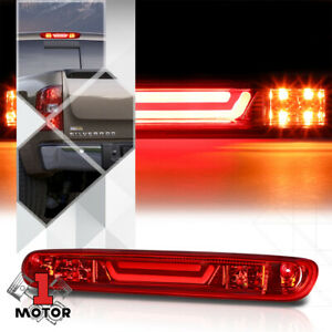 Red Led Bar Third 3rd Brake Light Cargo Functioned For 07 14 Silverado Sierra