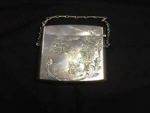 Antique Victorian Silver Card Case Gorham M F Co Birmingham C 19th Century
