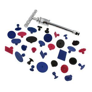 Abn Paintless Body Dent Repair T bar Slide Hammer Puller Tool Kit