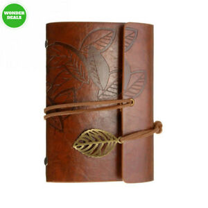 Leather Writing Journal Diary Notebook Alloyseed A6 Vintage Pu Cover Loose