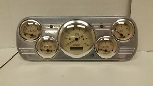 1937 1938 Chevy Car Powder Coated 5 Gauge Cluster Tan