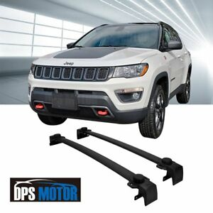 Oe Style Black Roof Rail Rack Cross Bar Luggage Carrier For 2017 18 Jeep Compass