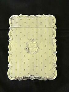 Antique Victorian Silver Card Case Birmingham Hilliard Thomason Circa 1868