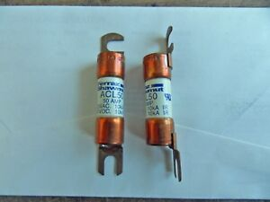 10 New Mersen Acl50 50amp 125 Volt Fork Lift Truck Fuse Free Ship