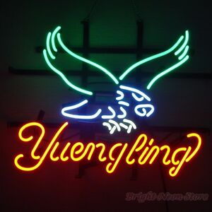 Yuengling Eagle Neon Sign Display Store Beer Bar Pub Real Neon Light Custom Z574