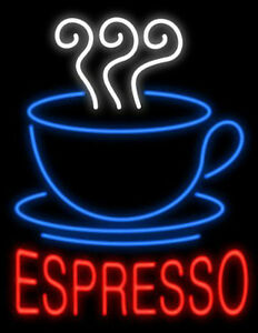 Espresso Coffee Neon Sign For Caf Bar Station Bakery Store Real Neon Light Z476