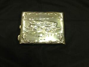 Antique Victorian Silver Purse Type Card Case Birmingham Henry Matthews 1899